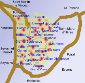 grenoble map carte bostonography